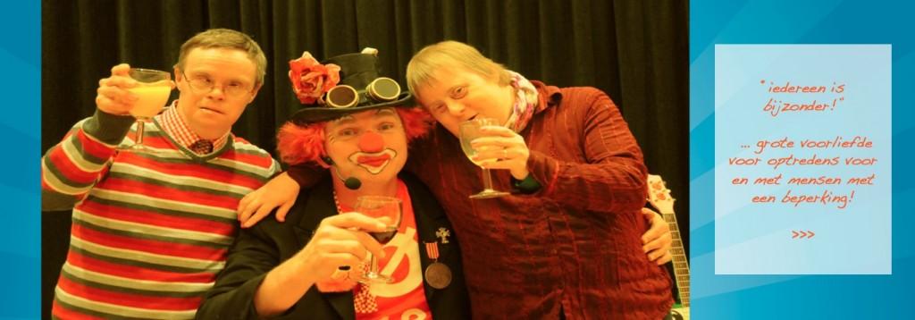 clown snorre samen stralen met beperking